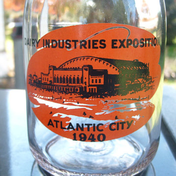 1940 Atlantic City Dairy Industries Exposition bottle....