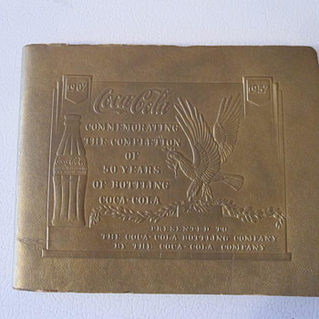 1957 Coca Cola Bottling 50th Anniversary Booklet