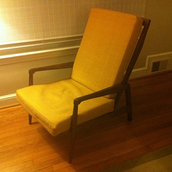 1960's Danish Modern-Style Lounge Chair - Furniture