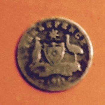 My 105 yr old well used...1911 Threepence  - World Coins
