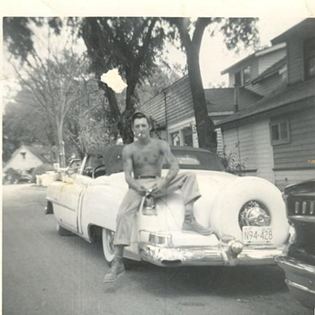 This was Taken in 50's . Cool Car and he passed away to young  - Photographs