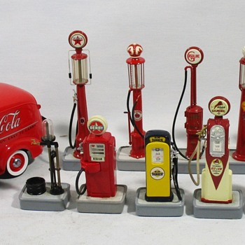 My collection of Gas Pumps - Model Cars
