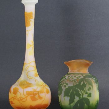 Most Recent Cameo Glass Acquisitions - Galle' and a Mystery Vase