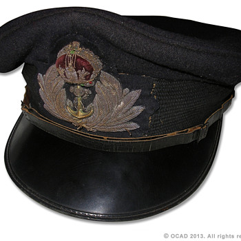 WW2 Royal Navy Officers visor cap