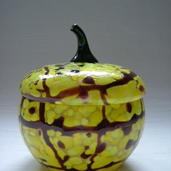 Whimsical Czech Art Deco Lidded Bowl