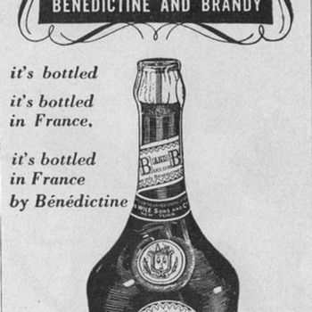 1950 Benedictine and Brandy Advertisement - Advertising