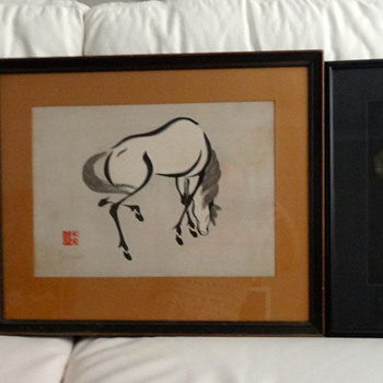 Three Vintage Japanese Paintings