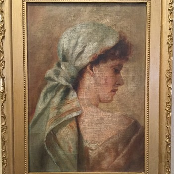 Charles G Calder Gallery Oil Painting Portrait Providence Rhode Island - Visual Art