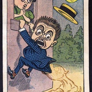 "RARE NEWSPAPER CARTOON STRIP POSTCARDS  ""LULU & LEANDER"" 1906 HOWARTH"