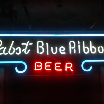 Pabst Blue Ribbon Beer Neon 1950's? - Breweriana