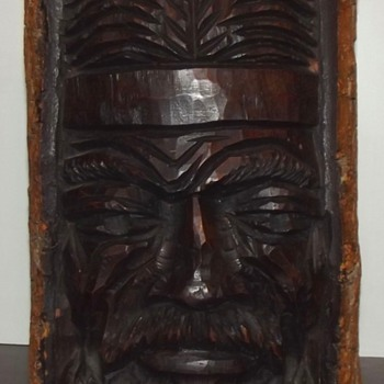 Argentine Gaucho Wood Sculpture - Folk Art