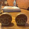Frankoma wheel salt and pepper set