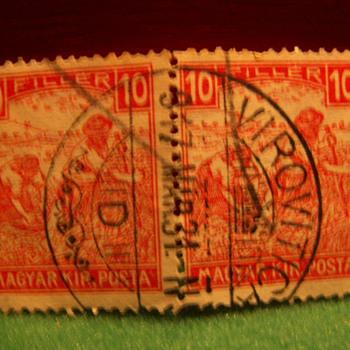 Vintage Magyar (Hungary) 10 Filler Stamps - Stamps