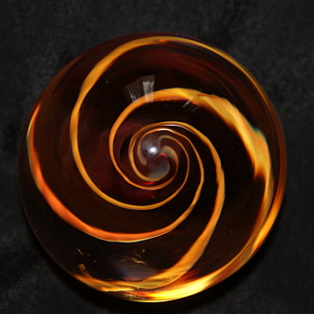 Vintage Paperweight Made in Canada by Chalet - Art Glass