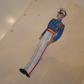 Vintage John Summers Soldier Painting