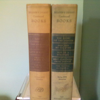 Readers Digest Condensed Book's . Autumn 1954 selection & Spring 1954 Selections. (Both books are First editions 1954 )