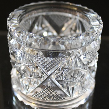 American Brilliant Cut Glass Napkin Ring Pitkins and Brooks