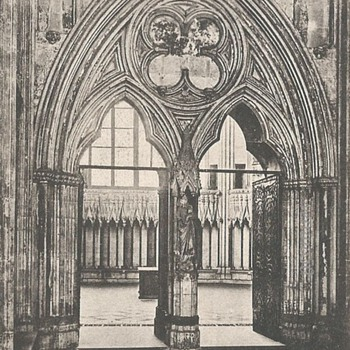 DOORWAY IN CHAPTER HOUSE, YORK MINSTER.