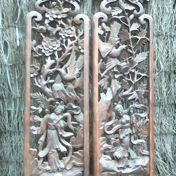 My Chinese carved panels