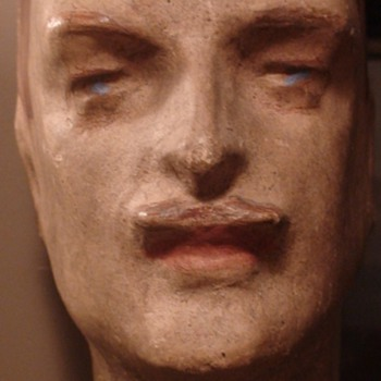 Papier Mache Men's Mannequin Head 1920s/1930s