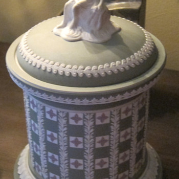 Tri-color Wedgwood cover Jasperware jar - China and Dinnerware