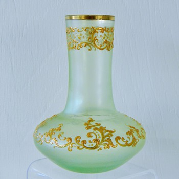 Early Loetz Olympia Enamelled PN 6645 Vase Circa 1896