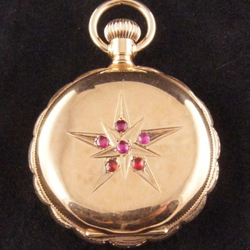 Elgin 14kt Hunter Case Pocket Watch - 1892 - Model 1 - 13 Jewel - Grade 115 - Size 0s