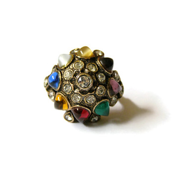 Vintage Vendome Colorful Jeweled Ring