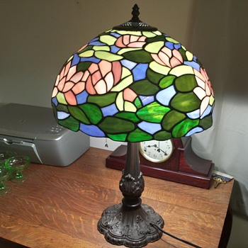 Stained Lead Glass Lamp - Lamps