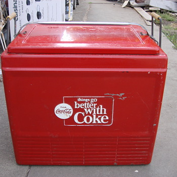 1960's Enjoy Coke Cola Cooler All orginal - Coca-Cola