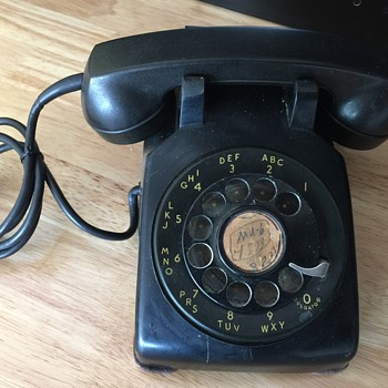 vintage 1950 western electric model 500 rotary dial phone - Telephones