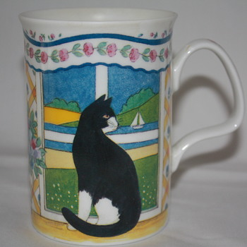 "COFFEE CUP Made In ENGLAND & OUR CAT ""BOOMER"""