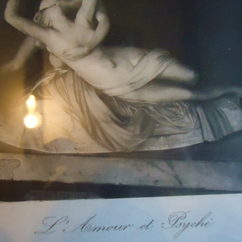 Print from thrift store  Li Amour et Psyche  by Canova Fect - Posters and Prints