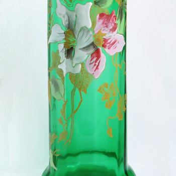 Legras Enameled Clematis Vase - another green!