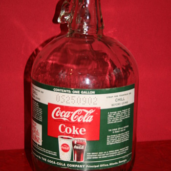 coca cola syrup bottle  - Coca-Cola