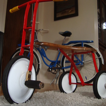 Tri-Ang wooden seat trike - second pic