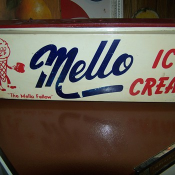 Vintage Mello Ice Cream Sign