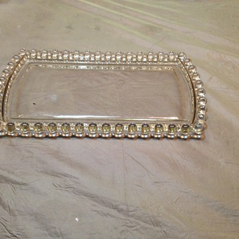 Appears to be an Antique Vanity Tray unknown MFG. Or year produced - Glassware