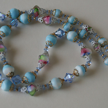 Vendome art glass necklace - Costume Jewelry