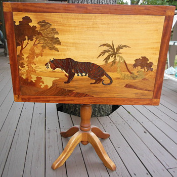 Inlaid End Table/Fold up