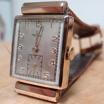 Wyler watch; 10K Lampwell case 1940&#039;s