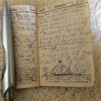 By request, here are entries found in diary - Military and Wartime