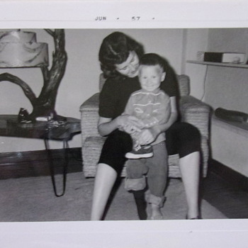 My Mom & 50's MCM Driftwood Lamp