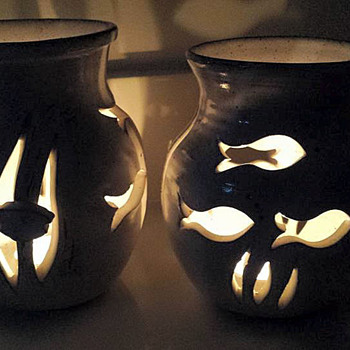 Studio Pottery-Candle Holders - Art Pottery