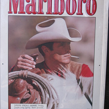 Marlboro Man Tin Sign - Signs
