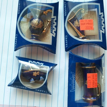 Limoges Cobalt miniatures in ORIGINAL PACKAGING ???
