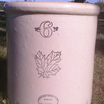 Western Stoneware Crock - Art Pottery