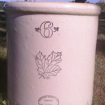 Western Stoneware Crock - Art Pottery