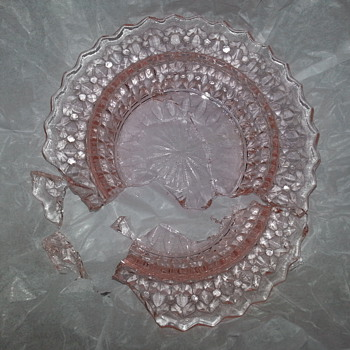 Unique Pink Depression Glass - Glassware