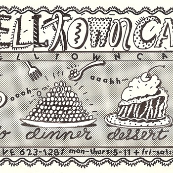 Lynda Barry ad for Belltown Cafe - Advertising